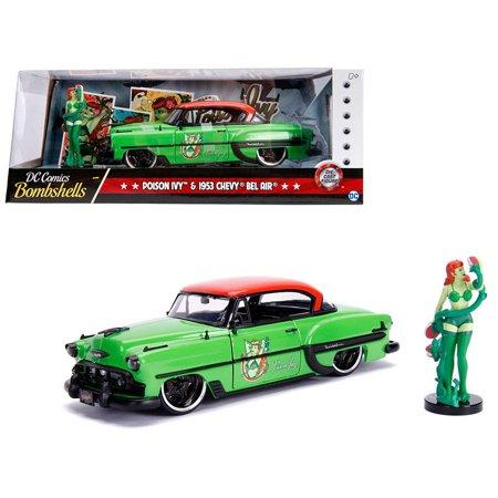 - 1953 Chevrolet Bel Air Green & Red Top w/ Poison Ivy Diecast Figure