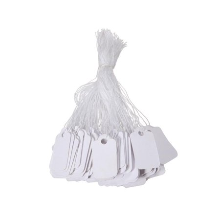 500 Pack Mini Price price label Tags, White Label Tie String Strung Jewelry Watch Display Merchandise Price Tags