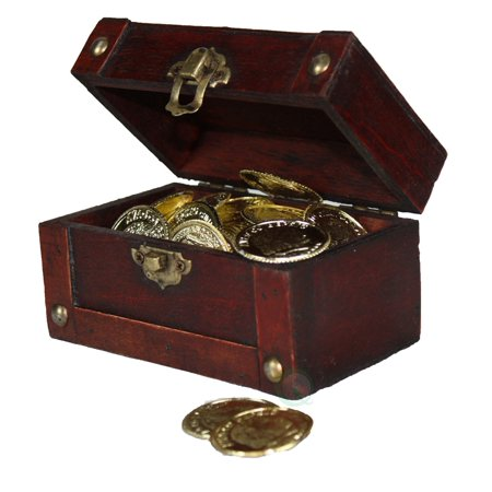 Mini Treasure Chest Full of Coins (Treasure Chest Gift Box)