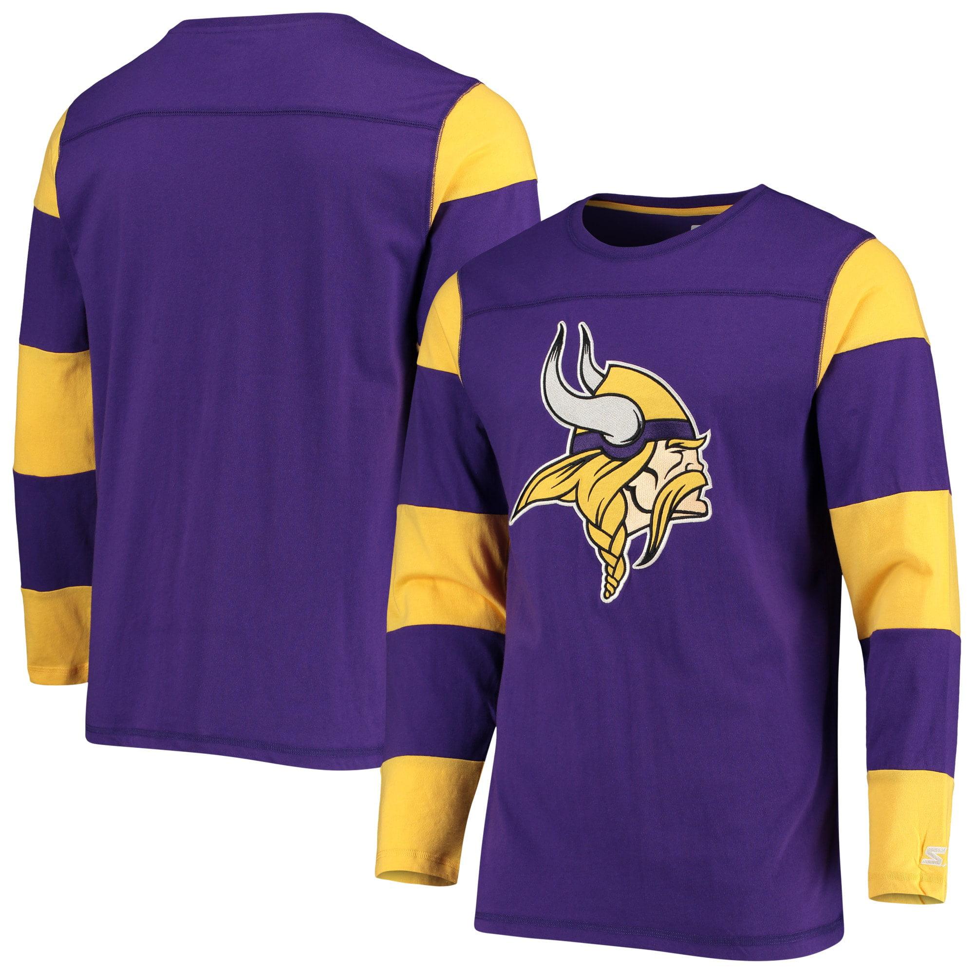 Minnesota Vikings Starter Field Jersey Long Sleeve T-Shirt - Purple/Gold - Walmart.com