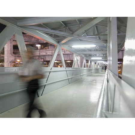 Canvas Print Siam Discovery Department Store Blur Walking Man Stretched Canvas 10 x 14 ()