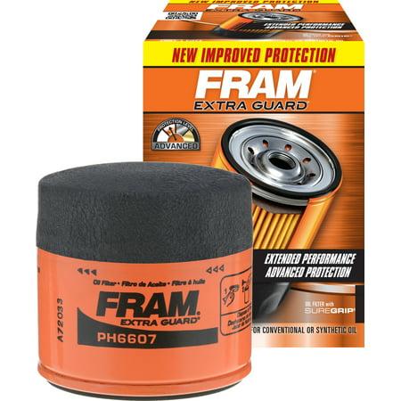 FRAM Extra Guard Oil Filter, (Filter Frame)