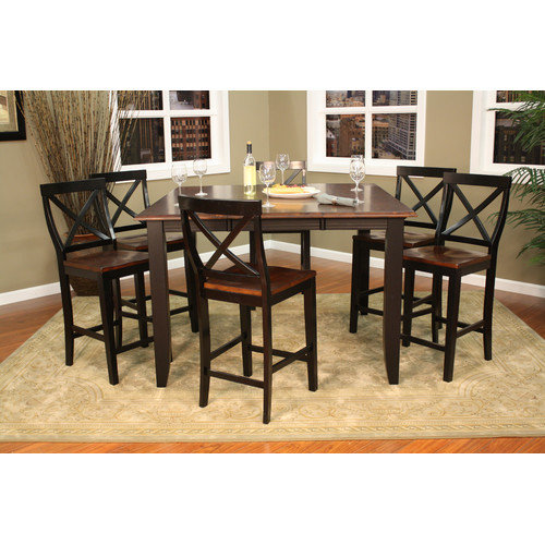 American Heritage Rosetta 7 Piece Counter Height Dining Set