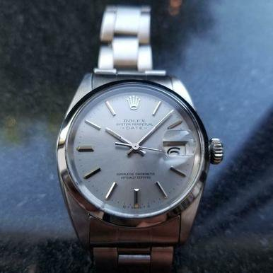 ROLEX Men's Oyster Perpetual Date 1500 Automatic Chronometer, c.1969 Swiss