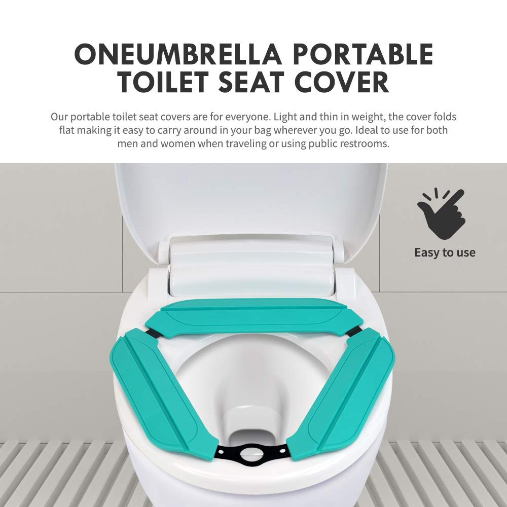 Reusable Silicon Folding Public Adults Teens Travel Toilet Potty Seat Covers Protectors