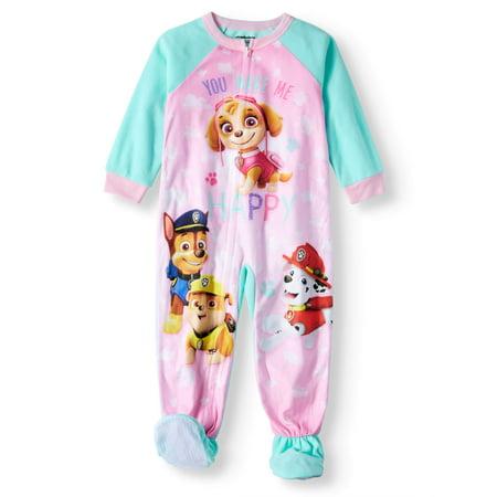 Paw Patrol Microfleece Footed Blanket Sleeper (Toddler Girls)