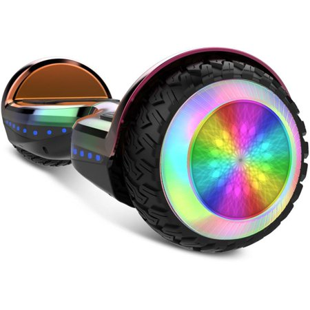 Gyrocopters PRO 6.0 Off-Road Hoverboard - UL 2272 Certified with Bluetooth, LED wheels, APP, No Fall Technology, Front and Back lights (Chrome Rainbow) - image 10 of 10