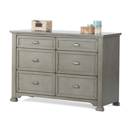 - Child Craft Roland Kids Double Dresser with Optional Hutch and Dressing Kit