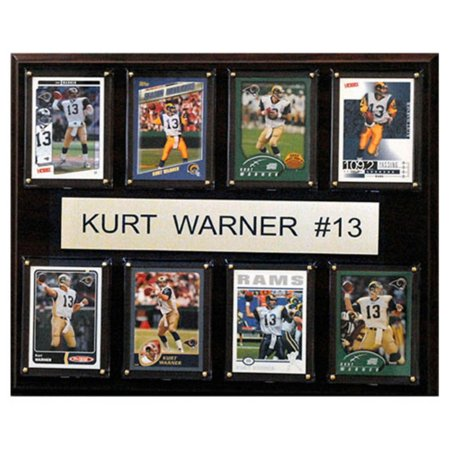 C And I Collectables Nfl 15W X 12H In  Kurt Warner St  Louis Rams 8 Card Plaque