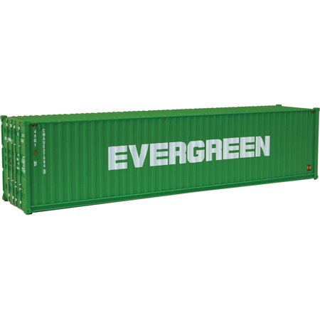 Walthers HO Scale 40' Hi-Cube Corrugated Shipping Container Evergreen (Green) ()