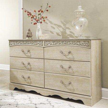 Wilshire Antique White Dresser - Ashley Catalina 6 Drawer Wood Dresser in Antique White