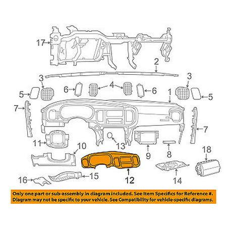 Dodge CHRYSLER OEM 11-14 Charger Instrument Panel Dash-Cluster Trim 1VD98DX9AA