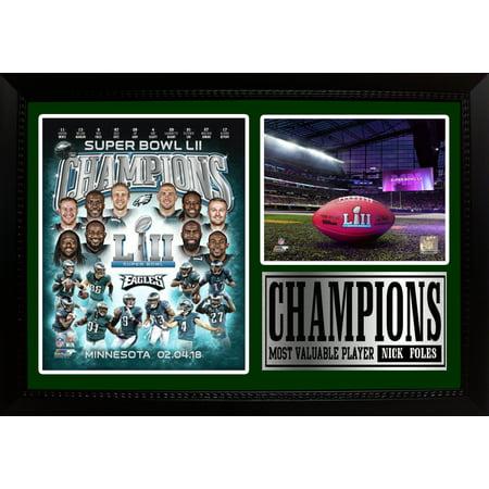 12x18 Photo Stat Frame - LII World Champion Philadelphia Eagles