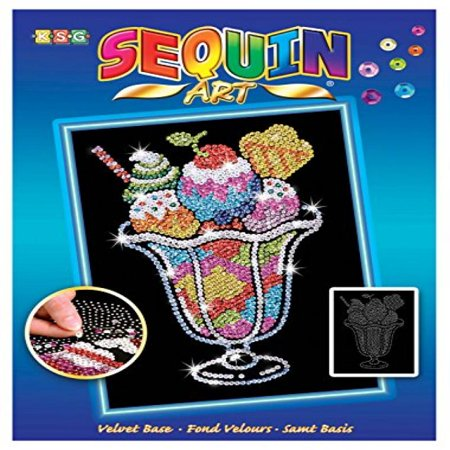 Croft Cream (Sequin Art Blue, Ice Cream Sundae, Sparkling Arts and Crafts Picture Kit, Creative Crafts )