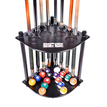 Pool Cue Rack Only 8 Pool Cue - Billiard Stick & Ball Floor Rack With Score Counters Black - Gld Cue Rack