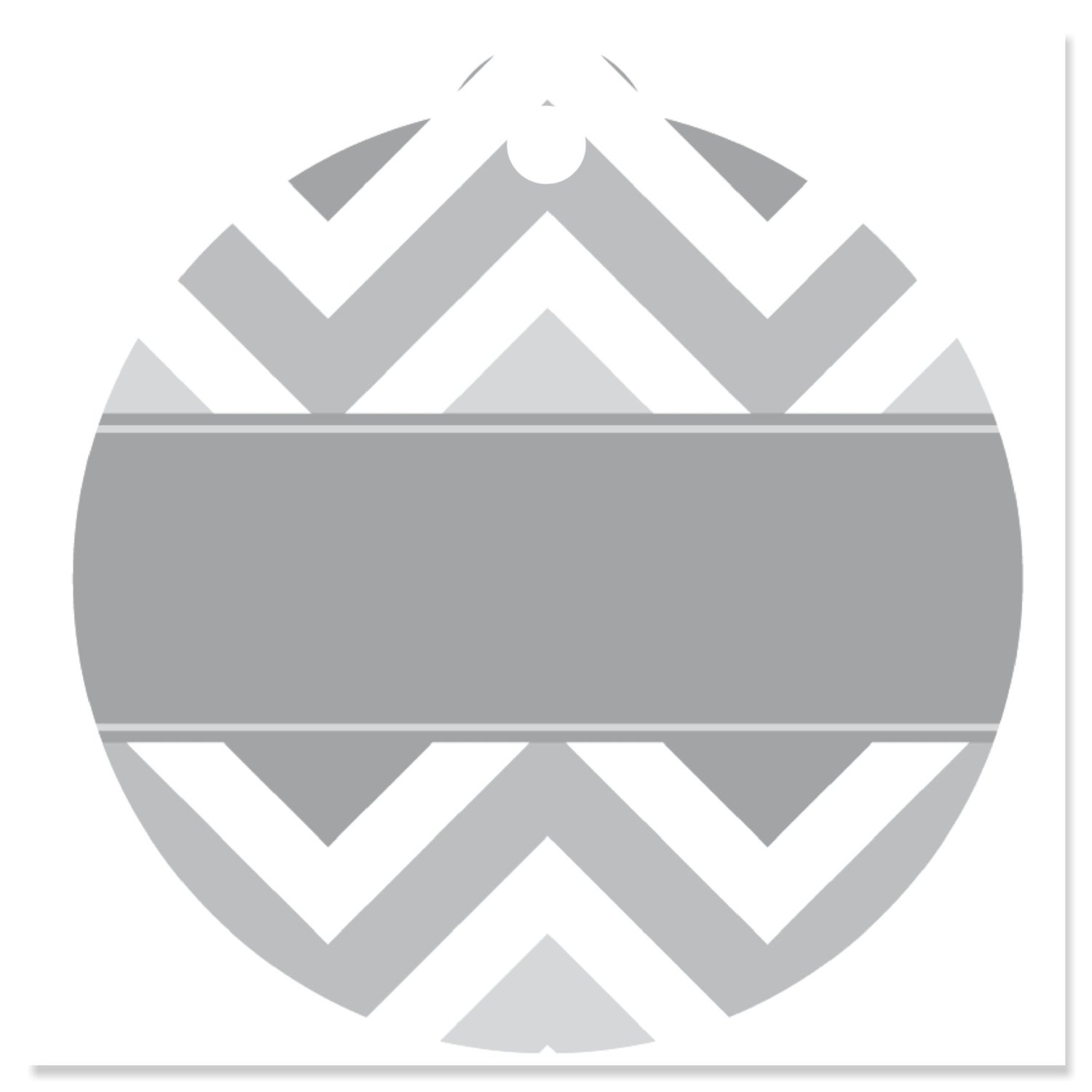 Chevron Gray - Party Favor Tags (Set of 20)