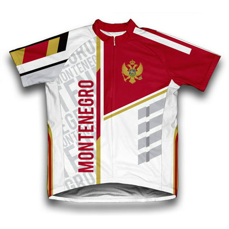 Montenegro ScudoPro Short Sleeve Cycling Jersey  for Men - Size (Montenegro Home Jersey)