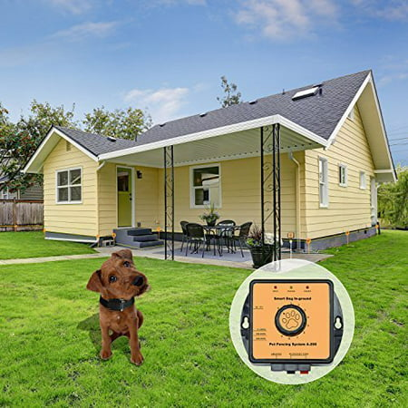 - Pet Fencing System Wireless Dog Fence - In-Ground Radio Fence with 2,7000 Sq. Metre Coverage - Invisible Underground Dog Fence with Boundary Marks and Rechargeable Receiver Collar