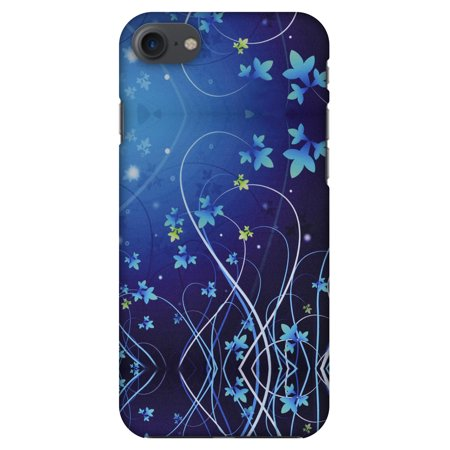 iPhone 8 Case - Midnight Lily, Hard Plastic Back Cover. Slim Profile Cute Printed Designer Snap on Case with Screen Cleaning (Print Hard Case)