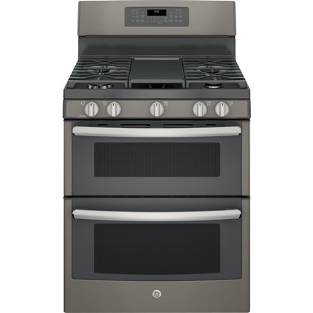 6.8 cu. ft. Double Oven Gas Range with Self-Cleaning Convection Oven (Lower Oven) in