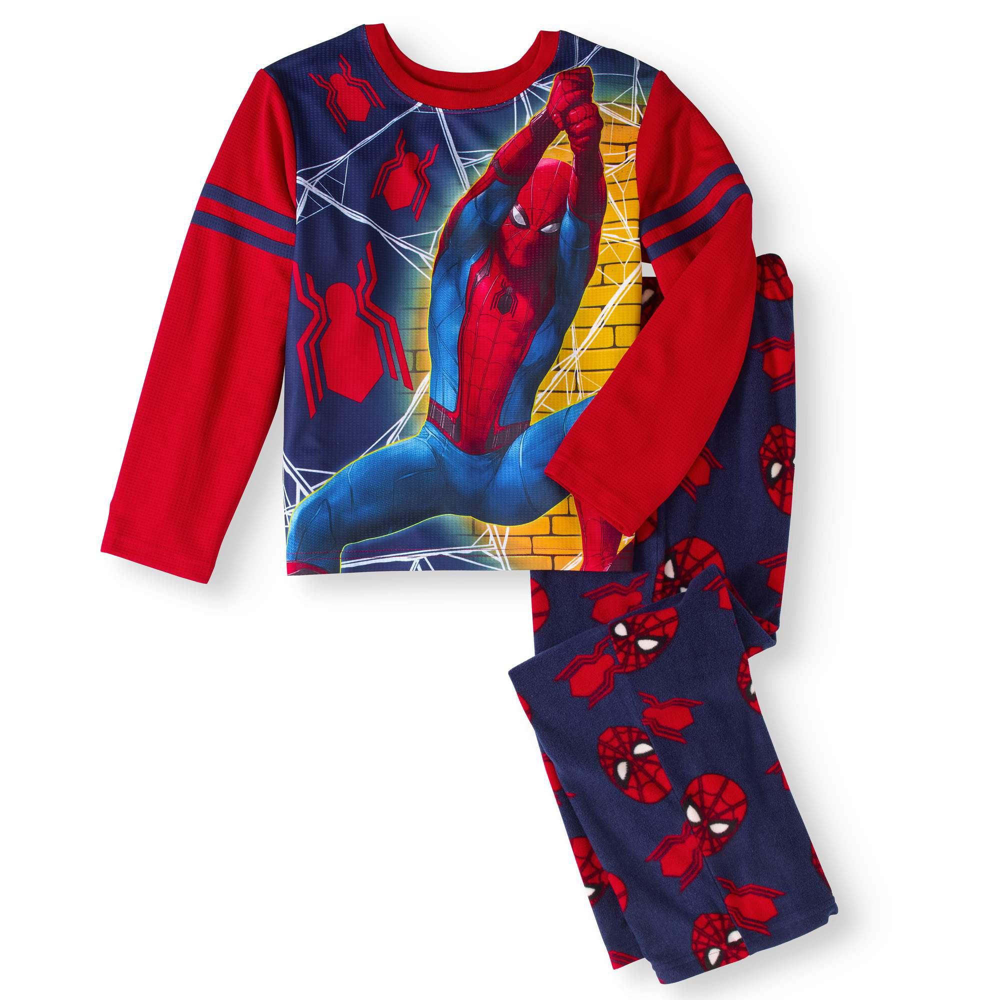 Spider-Man Boys' Microfleece 2 Piece Pajama Sleepwear Set (Big Boys & Little Boys)