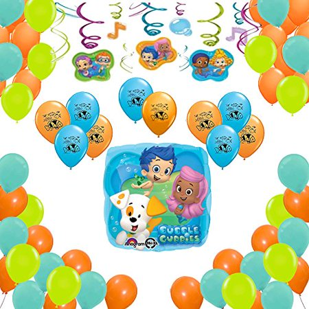 Bubble Guppies Party Supplies Birthday Balloon Decorations 40 Count](Bubble Guppie Balloons)