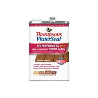 Thompson's WaterSeal Waterproofer Plus Semi-Transparent Wood Stain, Nutmeg Brown, 1-Gal