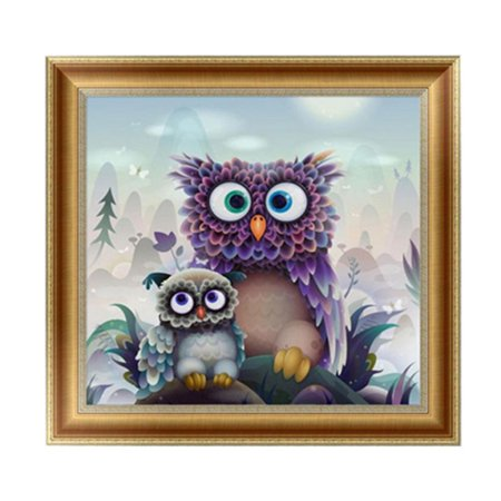 5D DIY Diamond Embroidery Painting Handmade Wall Decoration Cross Stitch Printing Craft Kits(Owl)