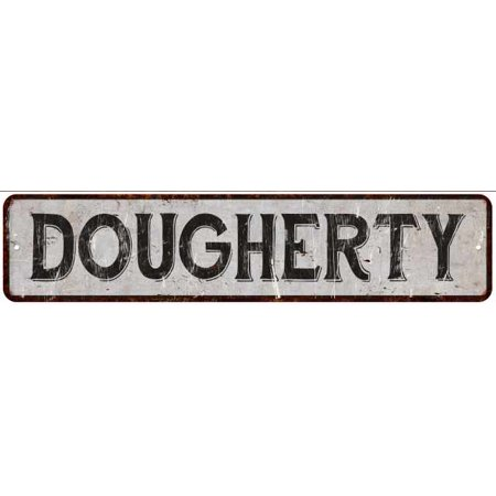 Dougherty Street Sign Rustic Chic Sign Home Man Cave Decor Gift White M41805518