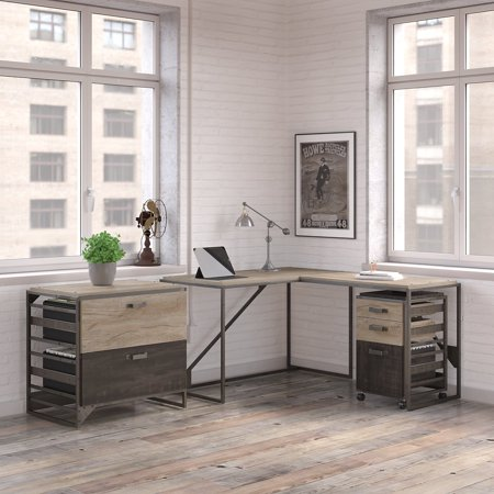 furniture steel desk base table ashley industrial by home products office modern with design rustic