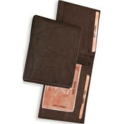 Brown Leather Slimfold Wallet Designer Jewelry by Sweet Pea