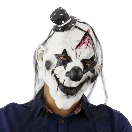 Elegantoss Scary Clown Overhead Mask Halloween Creepy Prop for Horror Costume Cosplay for Mens Women and Kids in Latex ()