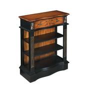 "One Drawer Bookcase H36.50"", Black/Brown"