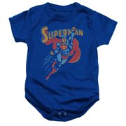 Superman Life Like Action Unisex Baby Snapsuit