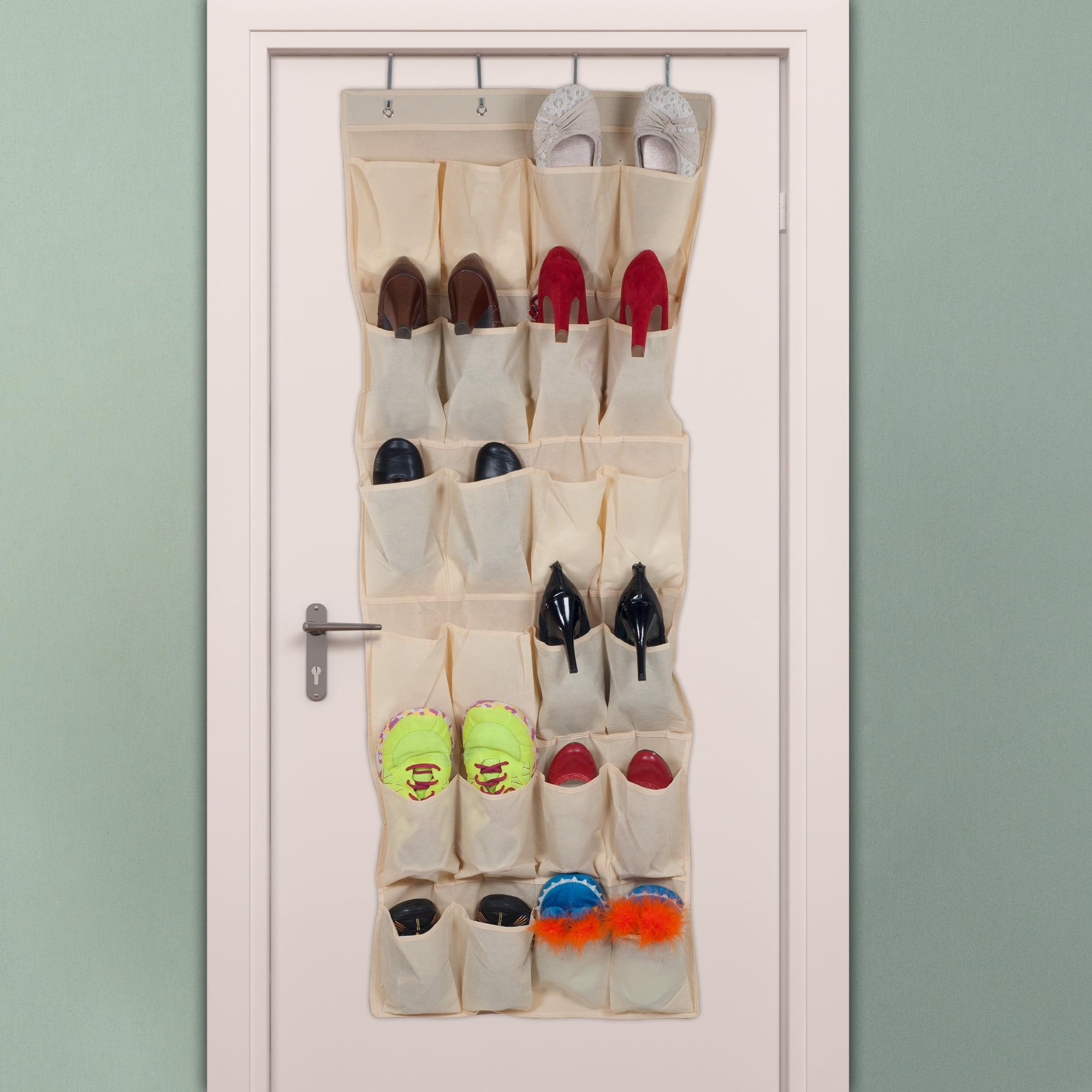 Lavish Home Over the Door Shoe Organizer - Fits 24 Shoes