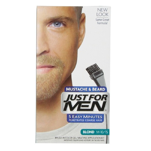 Just For Men Brush-In Color Gel For Mustache, Beard And Sideburns, Natural Sandy Blonde - Kit