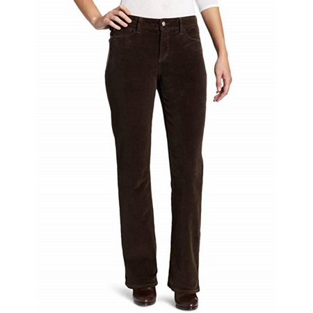 NYDJ WOMEN'S BARBARA BOOTCUT PANTS IN CORDUROY EARTH GREEN (Polo Corduroy Pants)