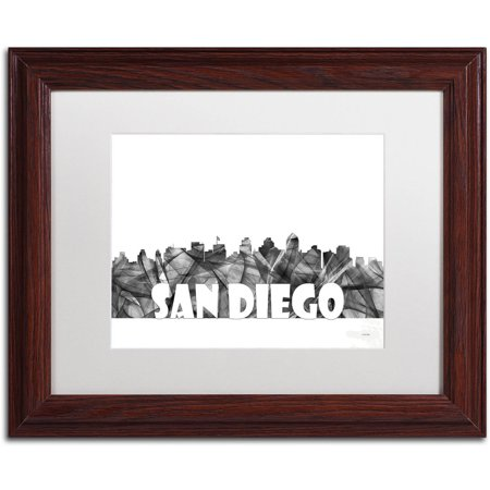Trademark Fine Art \'San Diego California Skyline BG-2\' Canvas Art by ...