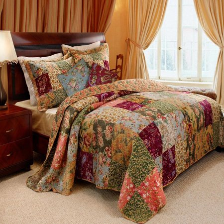 - Greenland Home Antique Chic Quilt & Sham Bonus Set, Twin, Full/Queen Or King