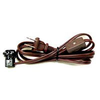 National Artcraft Lamp Cord Set Has Candelabra Socket With Screw-On Collar and Switch - 6 Ft.