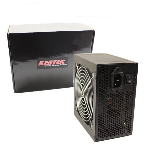 KENTEK 500 Watt 500W Black 12cm 120mm Fan ATX Power Supply 12V SATA 20/24 PIN Molex 4 Pin ATX 12V Intel AMD by KENTEK