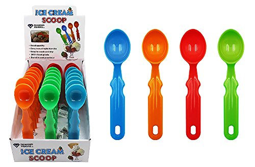 Click here to buy Diamond Visions 01-1729 Plastic Ice Cream Scoop MultiPack in Assorted Colors (3 Scoops).
