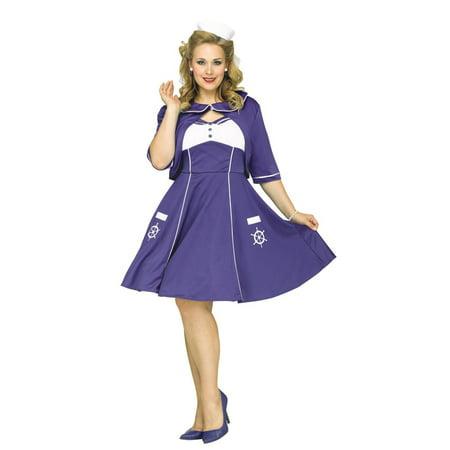 Sweet Sailin' Adult Plus Halloween Costume](Popeye Sweet Pea Costume)