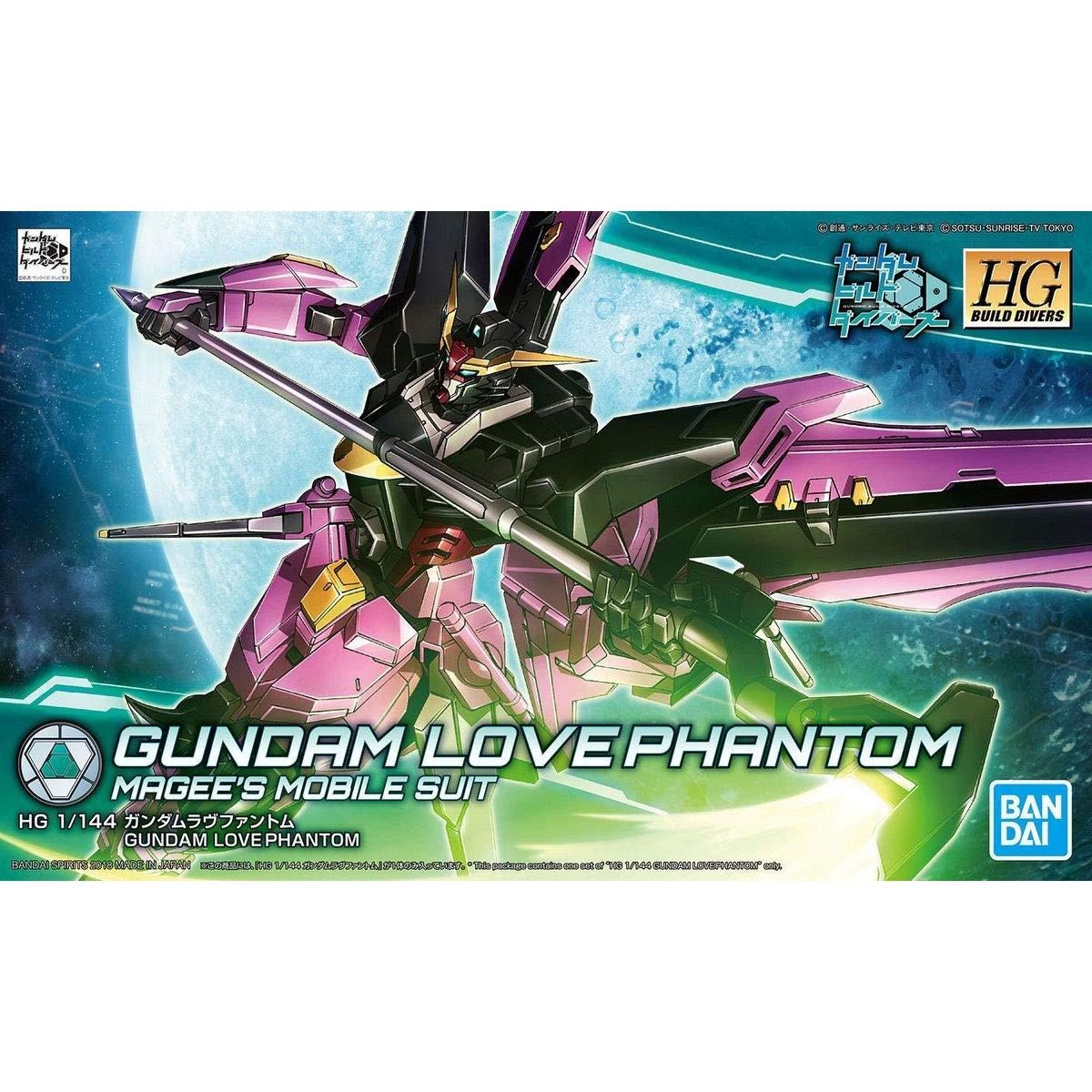 Bandai Hobby Build Divers Gundam Love Phantom HG 1 144 Model Kit by Bandai Hobby