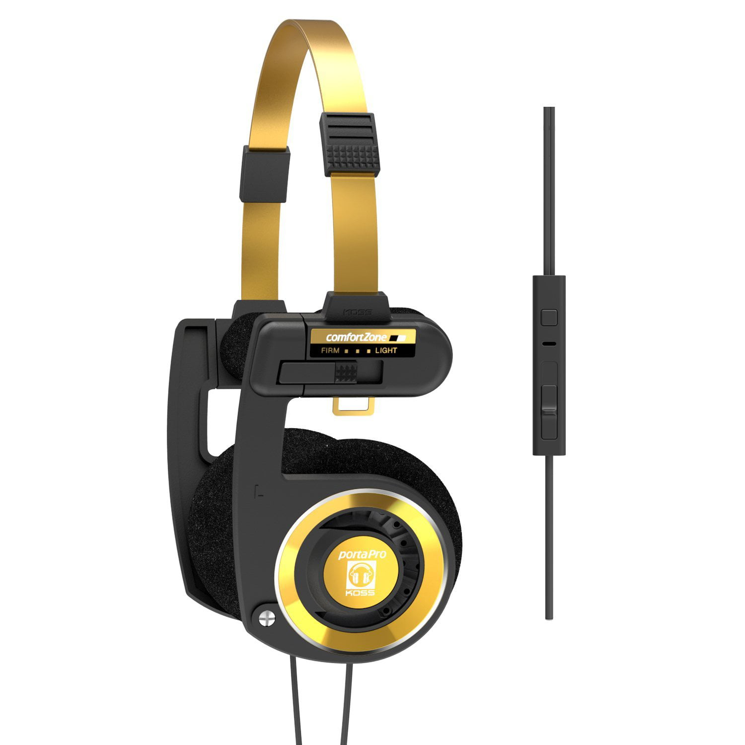 Koss Porta Pro Limited Edition Black Gold Headphones with Microphone_ Volume Control_ and Remote by Koss