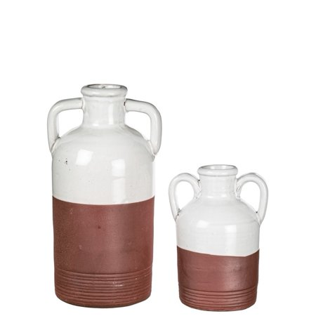 Sullivans Rustic  Two-tone Terra Cotta Jug Vase Decor