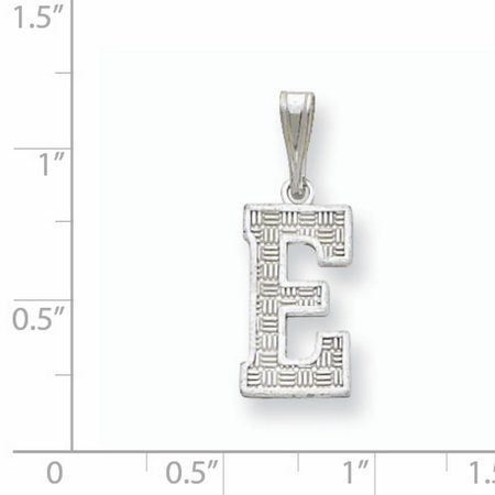 Sterling Silver Initial E Charm QC2762E (25mm x 9 to 10mm) - image 1 of 2