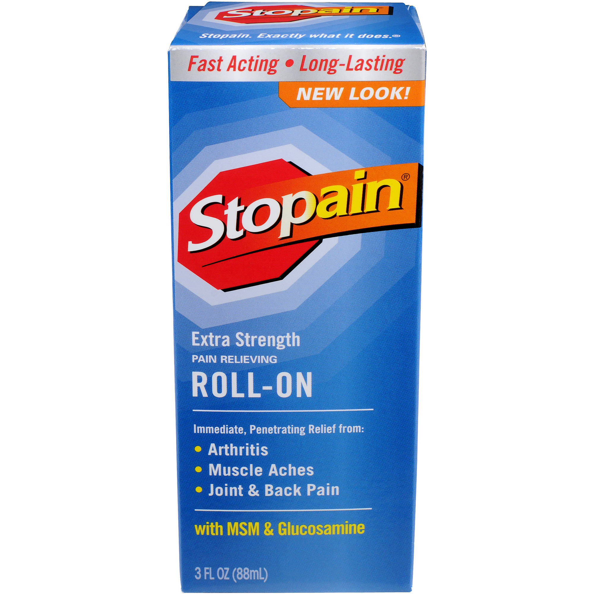 Stopain Pain Relief Extra Strength Roll-On 3 Fl Oz