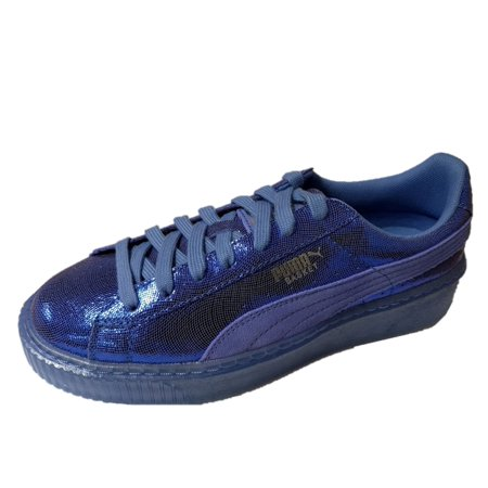 PUMA 364587-03 : Women's Basket NS Wn Platform Baja Blue Sneakers