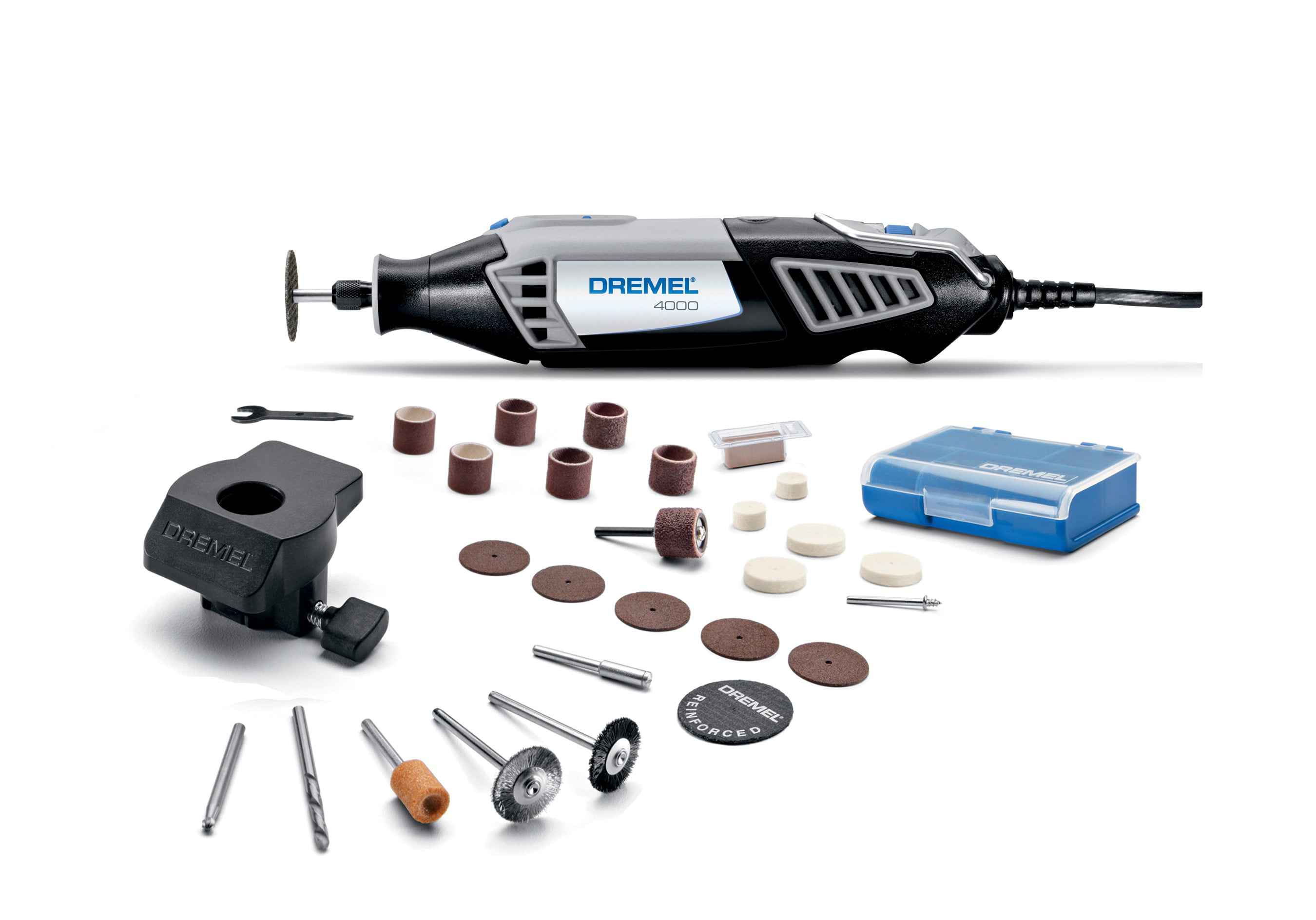 Dremel 4000 1 26 16 Amp Corded Variable Speed Rotary Tool Attachment And Accessories